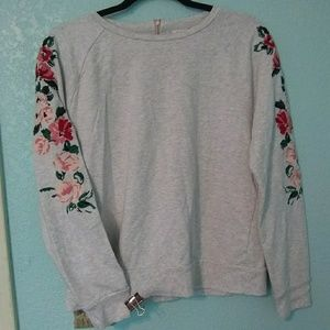 A new day floral embroidered sweatshirt